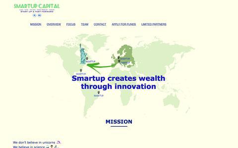 Screenshot of Home Page smartupcapital.com - Smartup Capital | Start Up & Fast forward - captured Oct. 20, 2018