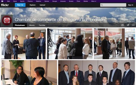 Screenshot of Flickr Page flickr.com - Flickr: Chambre de commerce de la région d'Edmundston's Photostream - captured Oct. 22, 2014