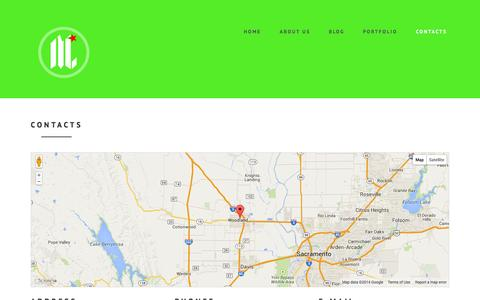 Screenshot of Contact Page mycalidesigns.com - Contacts - captured Nov. 4, 2014