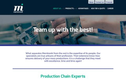 Screenshot of Team Page memtronik.com - Team | Memtronik - captured Nov. 28, 2016