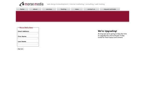 Screenshot of Signup Page morsemedia.net - Newsletter Subscription   Morse Media - captured Oct. 1, 2014