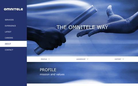 Screenshot of About Page omnitele.com - Omnitele - captured Oct. 29, 2014