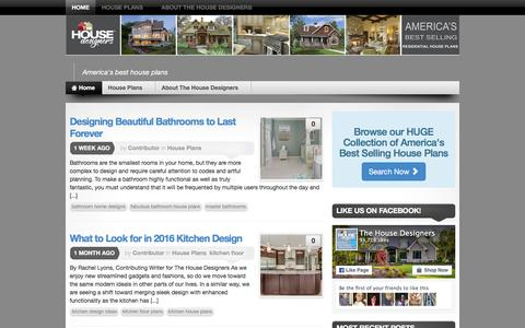Screenshot of Blog thehousedesigners.com - Home Design - America's best house plans - captured Jan. 30, 2016