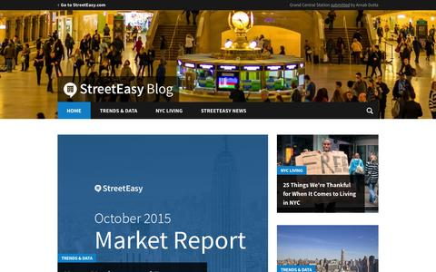 Screenshot of Blog streeteasy.com - StreetEasy Blog � NYC Real Estate Trends and Data, Tips and Advice - captured Nov. 24, 2015