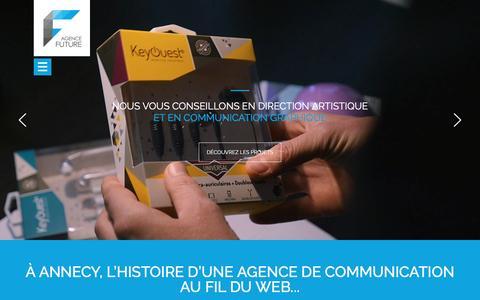 Screenshot of Home Page agence-future.com - Agence de communication prod vidéo et agence web annecy - captured Nov. 19, 2016