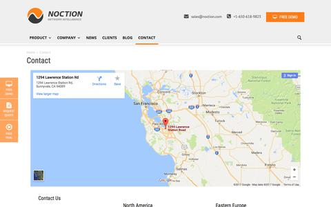 Screenshot of Contact Page noction.com - Contact Us | Noction - captured June 16, 2017