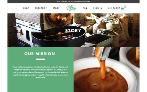 Screenshot of About Page hilinecoffee.com - About HiLine Coffee - HiLine Coffee Company - captured Feb. 14, 2016
