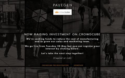 Screenshot of Home Page pavegen.com - Pavegen - The Next Step - captured May 15, 2019