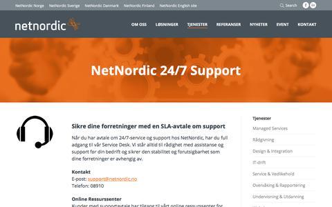 Screenshot of Support Page netnordic.no - NetNordic Norge | Vi tilbyr avtale om 24/7-support - captured Nov. 5, 2017