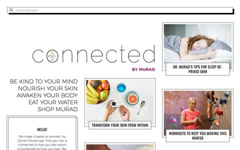 Screenshot of Blog murad.com - Connected by Murad | The Murad Skin Care Blog - captured Jan. 12, 2019