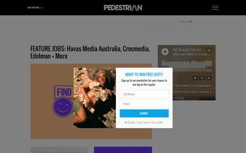 Screenshot of Jobs Page pedestrian.tv - Career Advice & Objective, Resume Writing Tips & More | Pedestrian TV - captured Nov. 7, 2018