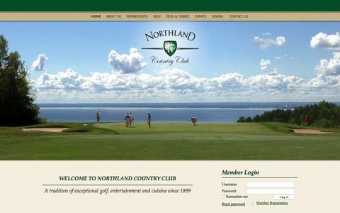 Screenshot of Home Page northlandcountryclub.com - Northland Country Club   Premier Golf Course, Private Club, Event & Wedding Venues - captured Oct. 9, 2015