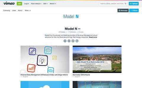 Model N on Vimeo
