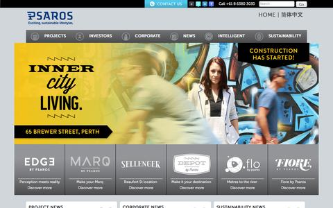 Screenshot of Home Page psaros.com.au - Property Developers Perth | Apartment Developments Perth - captured Oct. 3, 2014