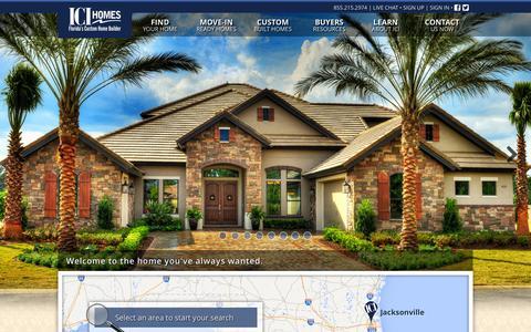 Screenshot of Home Page icihomes.com - ICI Homes - Florida's Custom Home Builder - captured Sept. 22, 2014
