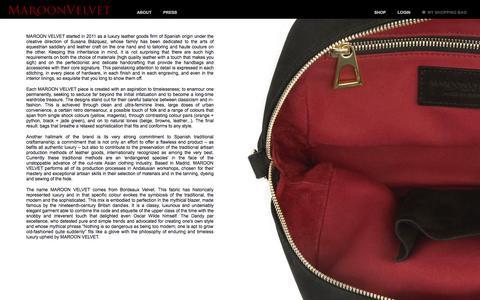 Screenshot of About Page maroonvelvet.com - MaroonVelvet - About us - captured Oct. 6, 2014