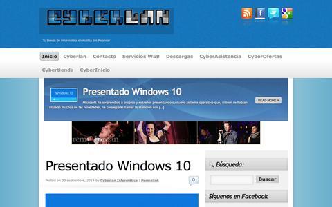 Screenshot of Home Page cyber-lan.es - Cyberlan - Tu distribuidor de Informática - captured Oct. 3, 2014