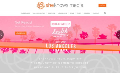 Screenshot of About Page sheknowsmedia.com - Women's Lifestyle Digital Media Company | SheKnows Media - captured Nov. 1, 2018