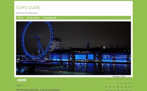 Screenshot of Home Page ze-gen.com - Guy's guide - Business InformationGuy's guide   Business Information - captured Oct. 9, 2015