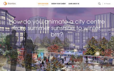 Screenshot of Home Page stantec.com - Saskatoon City Centre Plan - Stantec - captured Oct. 23, 2015