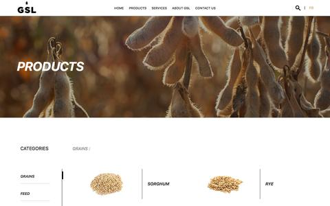 Screenshot of Products Page slgrain.com - Produits Archive - Grain St Laurent - captured Sept. 10, 2017
