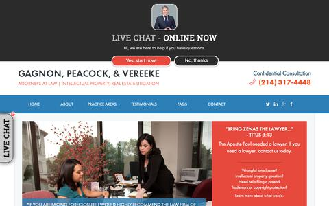 Screenshot of Testimonials Page gapslegal.com - Testimonials | Gagnon, Peacock & Vereeke, P.C. - captured Sept. 27, 2018