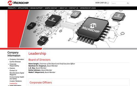 Screenshot of Team Page microchip.com - Leadership | Microchip Technology - captured April 9, 2018