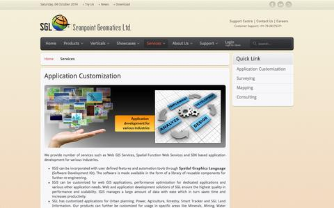 Screenshot of Services Page scanpointgeomatics.com - Services - captured Oct. 4, 2014