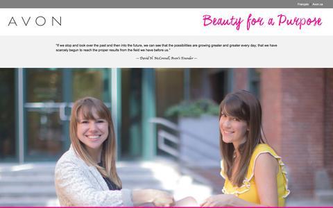 Screenshot of Jobs Page avon.ca - Avon Canada Opportunities - captured Nov. 21, 2016