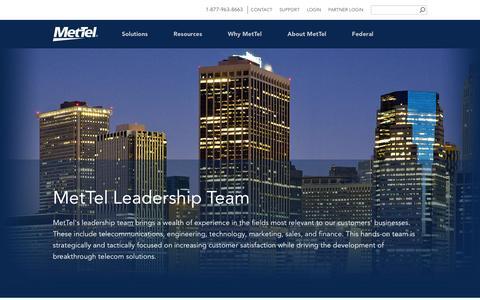 Screenshot of Team Page mettel.net - Leadership - captured June 19, 2016