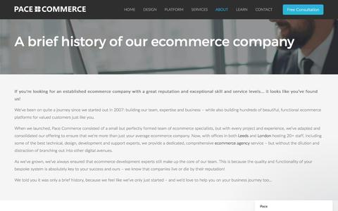 Screenshot of About Page pacecommerce.co.uk - Ecommerce Company - captured May 7, 2017
