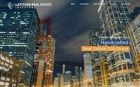 Screenshot of Home Page lmrei.com - Home - Latitude Real Estate Investors        Latitude Real Estate Investors - captured Jan. 23, 2015