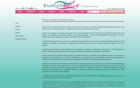 Screenshot of Terms Page kurleebelle.com - Natural Hair Care Products | Natural Ingredients | Kurlee Belle offers eco-friendly high performance hair care products for curly hair, natural hair and relaxed hair with a Tropical-Caribbean theme inspired specifically by hair recipes from the Islan - captured Sept. 30, 2014
