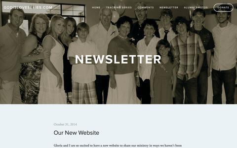 Screenshot of Press Page godisloveseries.com - Newsletter — godisloveseries.com - captured April 6, 2016