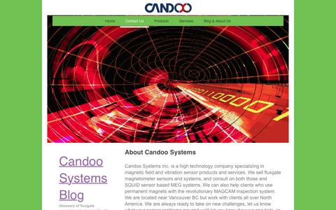 Screenshot of Contact Page candoosys.com - Candoo Systems Inc. - Contact Us - captured Jan. 25, 2016