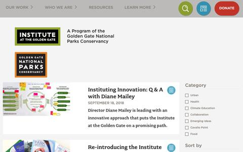 Screenshot of Blog instituteatgoldengate.org - Blog | Institute at Golden Gate - captured Oct. 12, 2018