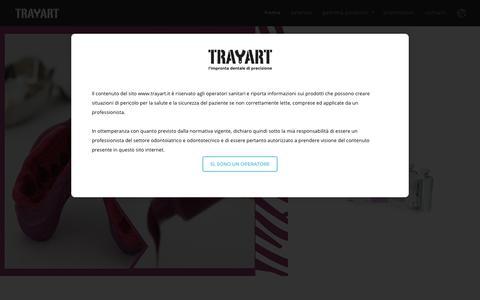 Screenshot of Home Page trayart.it - Trayart - captured Nov. 18, 2018