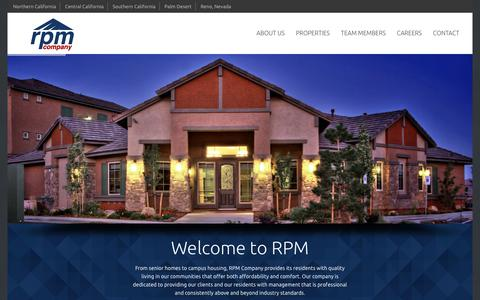 Screenshot of Home Page Contact Page rpmcompany.com - RPM Company - captured March 1, 2016
