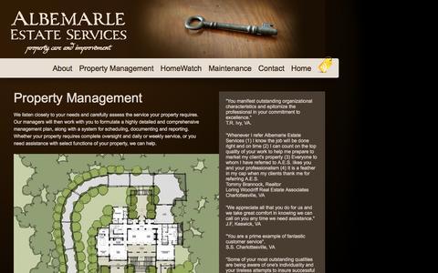 Screenshot of Team Page albemarleservices.com - Property Management | Albemarle Estate Services - captured Nov. 20, 2016