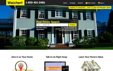Screenshot of Home Page weichert.com - Weichert: Realtors, Real Estate, Homes For Sale - captured Oct. 16, 2015