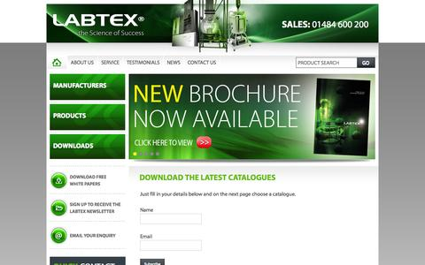 Screenshot of Signup Page labtex.co.uk - Download the Latest Catalogues - Labtex - captured Oct. 1, 2014
