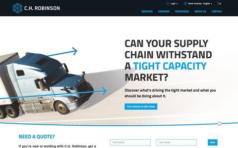 C.H. Robinson | Third Party Logistics (3PL) & Supply Chain Management