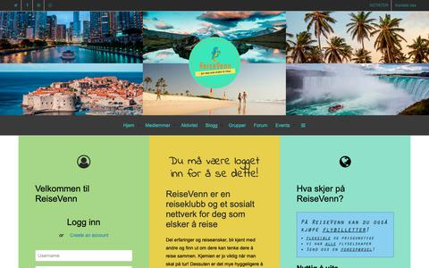 Screenshot of Testimonials Page reisevenn.no - Bli medlem – ReiseVenn - captured Nov. 18, 2018