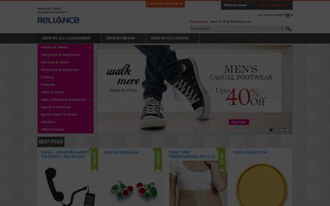 Screenshot of Home Page specialprivileges.co.in - RCOM.Online Shopping India - Buy Latest Electronics, Cameras, Mobiles, Gifts, Jewellery, Watches, Handbags, Perfumes & More - Discover Great Deals - captured Sept. 30, 2014