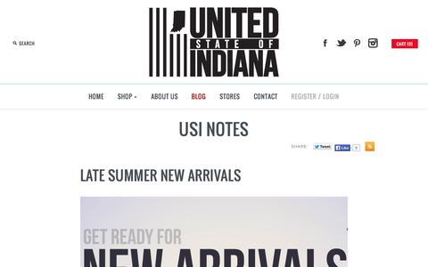 Screenshot of Blog unitedstateofindiana.com - USI Notes Blog: United State of Indiana - captured Oct. 27, 2014
