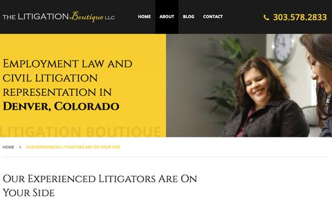 Screenshot of About Page thelitbot.com - About The Litigation Boutique LLC | Denver, Colorado - captured Oct. 20, 2018