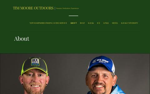 Screenshot of About Page timmooreoutdoors.com - About - Tim Moore Outdoors - captured Sept. 20, 2018