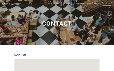 Screenshot of Contact Page vatcinc.com - Contact | VATC - captured May 17, 2019