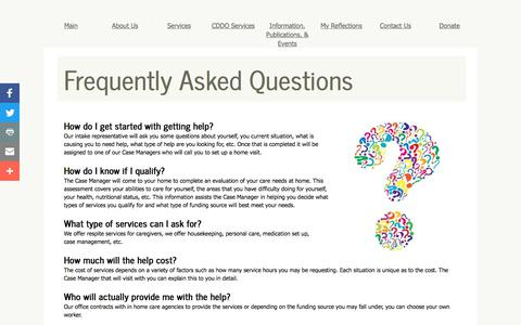 Screenshot of FAQ Page eckaaa.org - Frequently asked Questions - captured July 13, 2017
