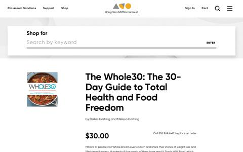 Order The Whole30: The 30-Day Guide to Total Health and Food Freedom, ISBN: 0544609719 | HMH